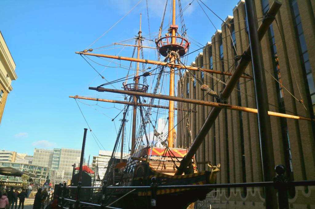 Golden Hind which can be found when exploring London Bridge