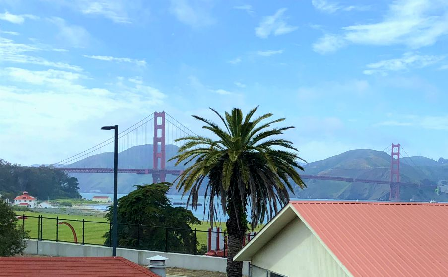 View of the Golden Gate Bridge from the Walt Disney Family Museum