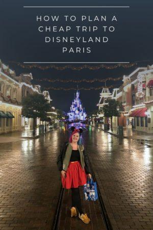 Cheap trip to Disneyland Paris Pinterest Pin 1