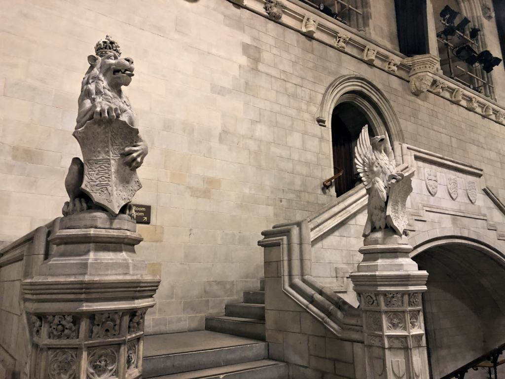 Some of the stone decor in Westminster Hall