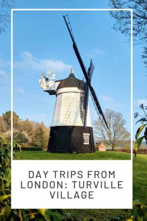 Day Trips from London: Turville Village pinterest pin