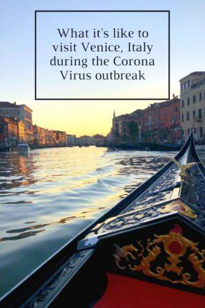 Corona Virus Venice pinterest pin