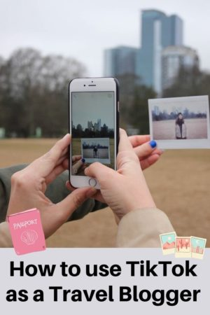 How to use TikTok as a Travel Blogger pinterest pin